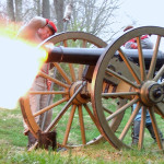 1841 field howitzer cannon replica cast by Clarksville Foundry