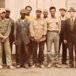 George Foust with Clarksville Foundry employees, 1974.