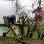 Cannon Firing at Ft Defiance, April 2011