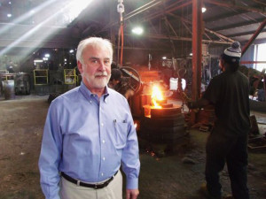 Charles Foust, Jr. at the Clarksville Foundry