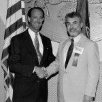 Charles Foust Jr. with Erskine Bowles, 1994