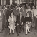 Foundry Staff, 1958. Front Row (from left): Mrs. Mary G. Black, T.B. Foust, Sr., Mrs. Frances P Winters. Back (from left): Noble Sales, Roy Woods, Earl Green, James Halford, George Moss, Henry Gray, Gus Hillman, Robert Davis, Trigg Welch, Spencer Johnson, Greely Bowen, John E. Freeman, Aubrey Wooten, Lee Thomas, Thomas B. Foust, Charles Foust, Fred Wooten